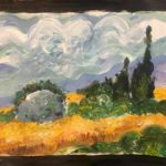 Мастер-класс живописи и дизайна для детй «Тайна кисти Ван Гога» Мастер-класс А. Восканян / 2018